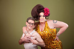 Drag Queen and Nerd royalty free stock images