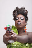 Drag queen with raygun Royalty Free Stock Image