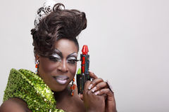 Drag queen with raygun Royalty Free Stock Photos