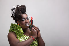 Drag queen with raygun Royalty Free Stock Photography