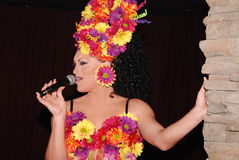 Drag queen singing. Stock Images