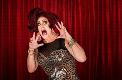 Drag queen spaventato Fotografie Stock Libere da Diritti