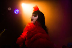 Drag Queen on stage at Glastonbury Festival 2017 royalty free stock image