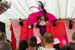 Drag Queen on a stage Royalty Free Stock Photos