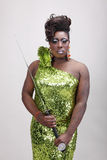 Drag queen with sword Royalty Free Stock Photo
