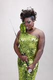 Drag queen with sword Royalty Free Stock Photos