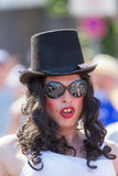 Drag Queen with top hat at Christopher Street Day Royalty Free Stock Photo
