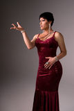 Drag queen in velvet dress. Stock Photography