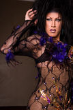 Drag queen wearing lace outfit Royalty Free Stock Image