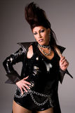 Drag queen wearing latex. Royalty Free Stock Photo