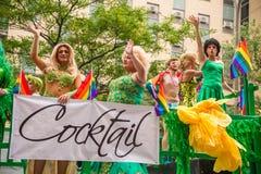Drag-queens bij de Vrolijke Trots van Montreal Stock Fotografie