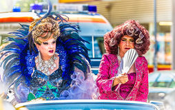 Drag Queens on a float at Christopher Street Day Royalty Free Stock Photo