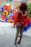 Drag Queens in Rainbow Dresses Gay Pride Parade Royalty Free Stock Images