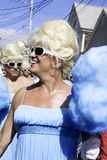 Drag queens walking in the 37th Annual Provincetown Carnival Parade in Provincetown, Massachusetts. Royalty Free Stock Image