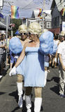 Drag queens walking in the 37th Annual Provincetown Carnival Parade in Provincetown, Massachusetts. Royalty Free Stock Photography