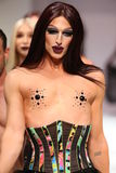 Drag race alumni Milk worked the Marco Marco runway show during Spring 2016 Stock Photography