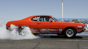 Drag Race burn-out stock images