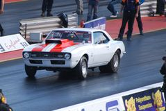 Drag Race Camaro Muscle Car Royalty Free Stock Images