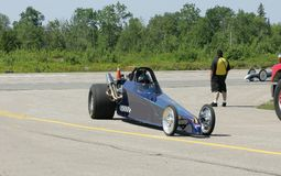 Drag race car finishing race. Taken at elliot lake drag races Stock Photography