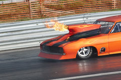 Drag race explosion, pic1 Royalty Free Stock Image