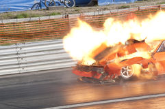 Drag race explosion, pic2 Stock Photography