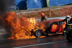 Drag race explosion, pic3 Royalty Free Stock Image