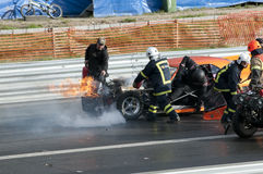 Drag race explosion, pic6 Stock Images