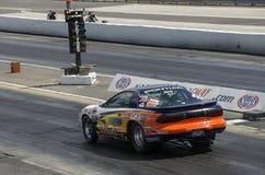 Drag race, pontiac firebird on the track Royalty Free Stock Photography