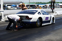 Drag race preparation Royalty Free Stock Image