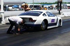 Drag race preparation Royalty Free Stock Image
