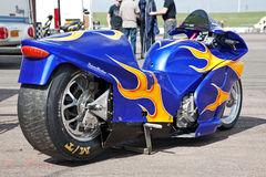 Drag racing bike Royalty Free Stock Photo