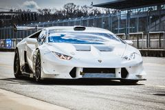 Drag racing Lamborgini stock photography