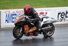 Drag Racing Motorcycle Royalty Free Stock Photography