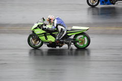 Drag Racing Motorcycle Stock Image