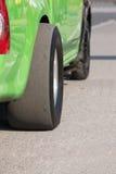 Drag slick tires Stock Images