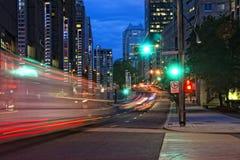 Drag Traffic Light at dusk. Skyline drag car with Light at Dusk royalty free illustration