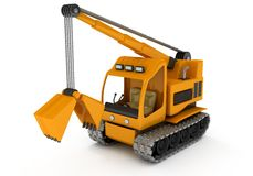 Draga, máquina escavadora Imagem de Stock Royalty Free