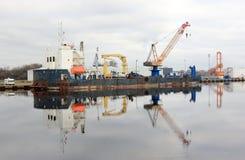 draga Mare del Nord, Wilhelmshaven, Germania Fotografia Stock