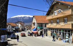 Dragaš town, southern Kosovo. The municipality of Dragaš (Dragash) is located in southern Kosovo. It covers an area of approximately 435 km² and includes Royalty Free Stock Photo