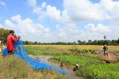 Dragado del abastecimiento de agua público Fotos de archivo libres de regalías