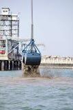 Dragaggio del porto Immagine Stock Libera da Diritti