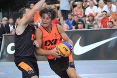 Dragan Bjelica - basket 3x3 Royaltyfria Foton