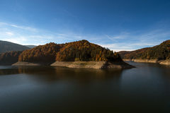 Dragan lake, dam reservoir used to generate electricity Royalty Free Stock Photography