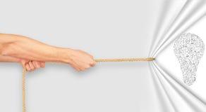 Dragande rep för hand Fotografering för Bildbyråer