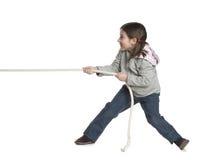 dragande rep för unge Arkivfoto