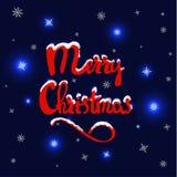 Dragen bokstäver för glad jul hand royaltyfri illustrationer