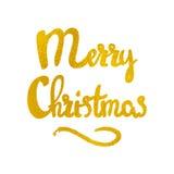 Dragen bokstäver för glad jul hand Royaltyfria Bilder