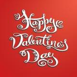 Dragen bokstäver för valentindag hand, tappningbakgrund Royaltyfri Foto