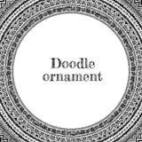 Dragen dekorativ ram för vektor hand Royaltyfri Foto
