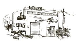 Dragen detaljerad illustration för vektor hand Fotografering för Bildbyråer